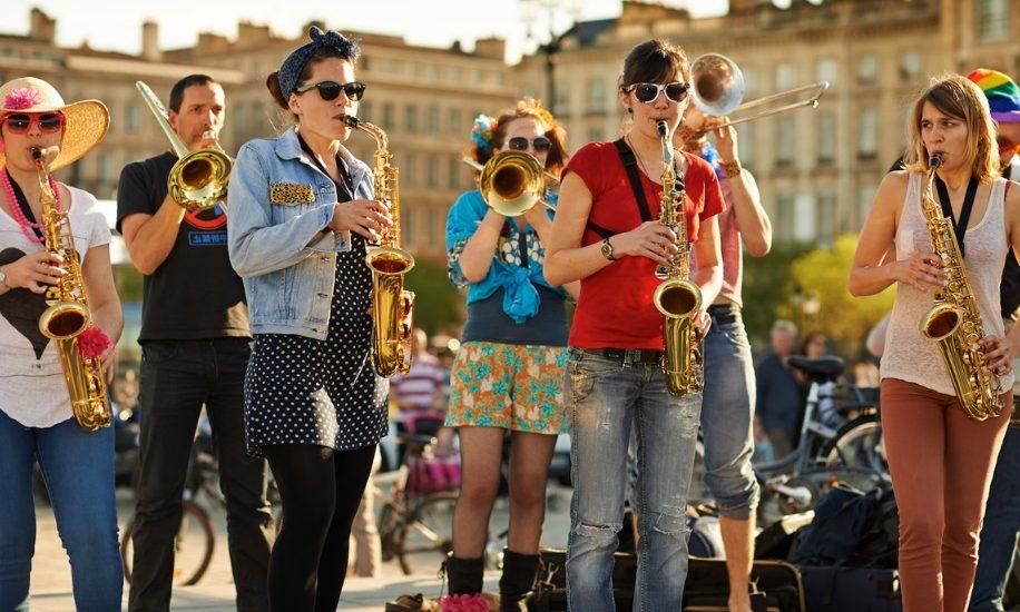 Musiciens dans la rue